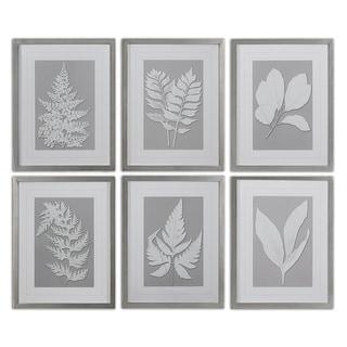 Uttermost 'Moonlight Ferns' Framed Print Art (Set of 6) - White