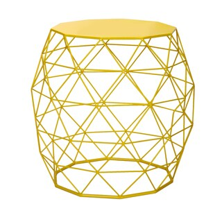 Link to Adeco Accents Wire Round Iron Metal Stripes Hatched Diamond Pattern Table Similar Items in Living Room Furniture