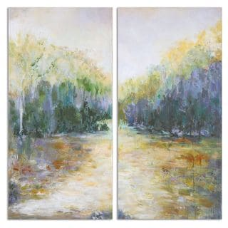 Uttermost 'Summer View' Hand Painted Canvas Wall Art (Set of 2)