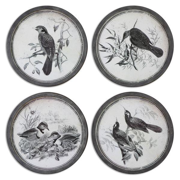 Uttermost 'Birds In Nature' Framed Print Art (Set of 4)
