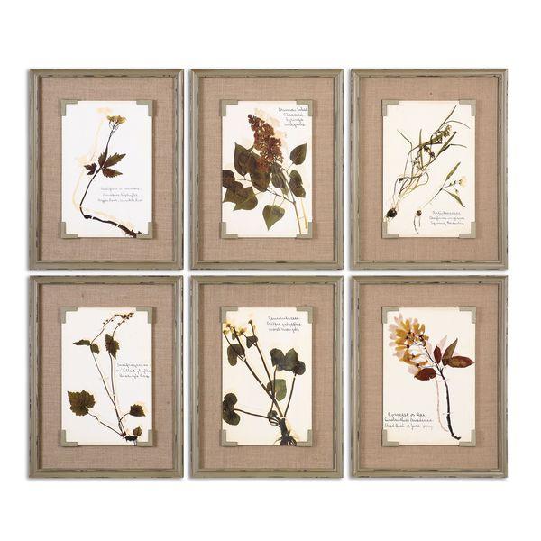 shop uttermost grace feyock ceramic florals framed ceramic tiles