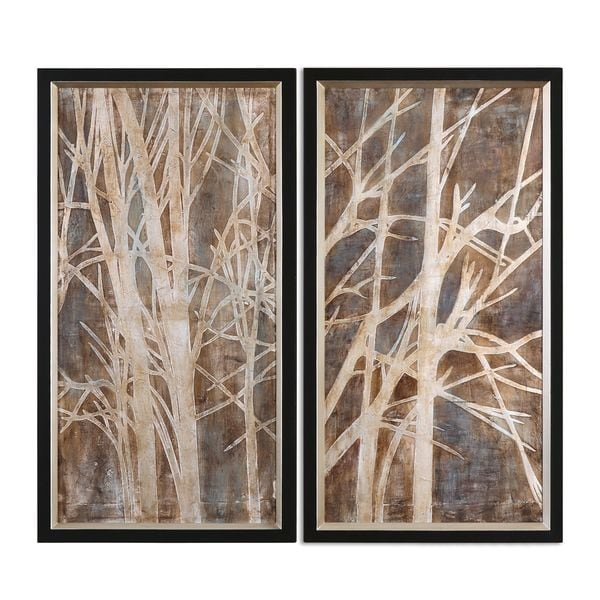 Uttermost Grace Feyock X27 Twigs Hand Painted Oil Wall Art
