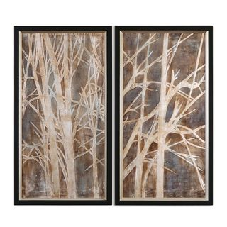 Uttermost Grace Feyock 'Twigs' Hand Painted Oil Wall Art (Set of 2)