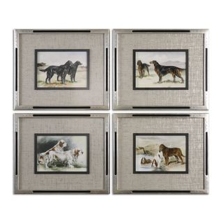 Uttermost Grace Feyock 'Working Dogs' Framed Canvas Print Wall Art (Set of 4)