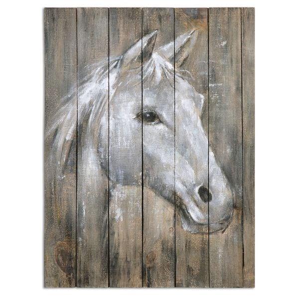 Shop Uttermost Grace Feyock \'Dreamhorse\' Hand Painted Wood Wall Art ...