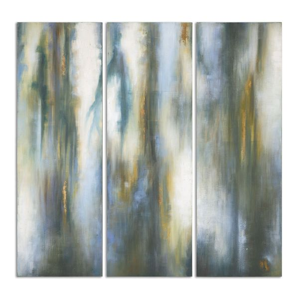 Uttermost Grace Feyock 'Moonglow Modern' Hand Painted Gallery Streched Canvas Wall Art (Set of 3)