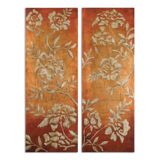 Uttermost Grace Feyock 'Chalk Florals' Hand Painted Gallery Wrapped Canvas Wall Art (Set of 2)