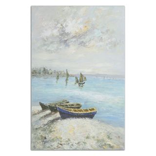 Uttermost Grace Feyock 'Waters Edge' Hand Painted Gallery Wrapped Canvas Wall Art