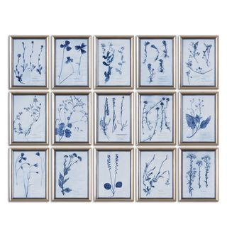 Uttermost Grace Feyock 'Dried Flowers' Printed Floral Wall Art (Set of 15)