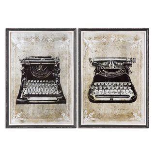 Uttermost 'Classic Typewriters' Vintage Art (Set of 2)