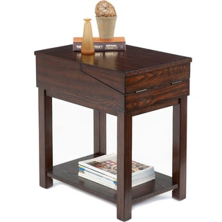 Birch Veneer Hinged-top Chairside Table