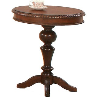 Mountain Manor Traditional Heritage Cherry Round Accent Table