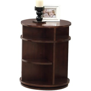 Metropolian Dark Cherry and Birch Swivel/ Chairside Table