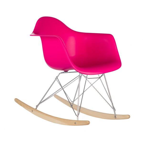 Poly and Bark Fuchsia Rocker Lounge Chair