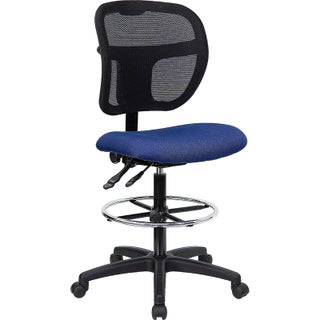 Offex Mid-Back Fabric Seat Mesh Drafting Stool