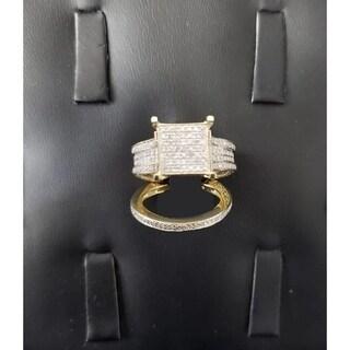 10k Yellow Gold 1 3/8ct TDW Diamond Engagement Bridal Set