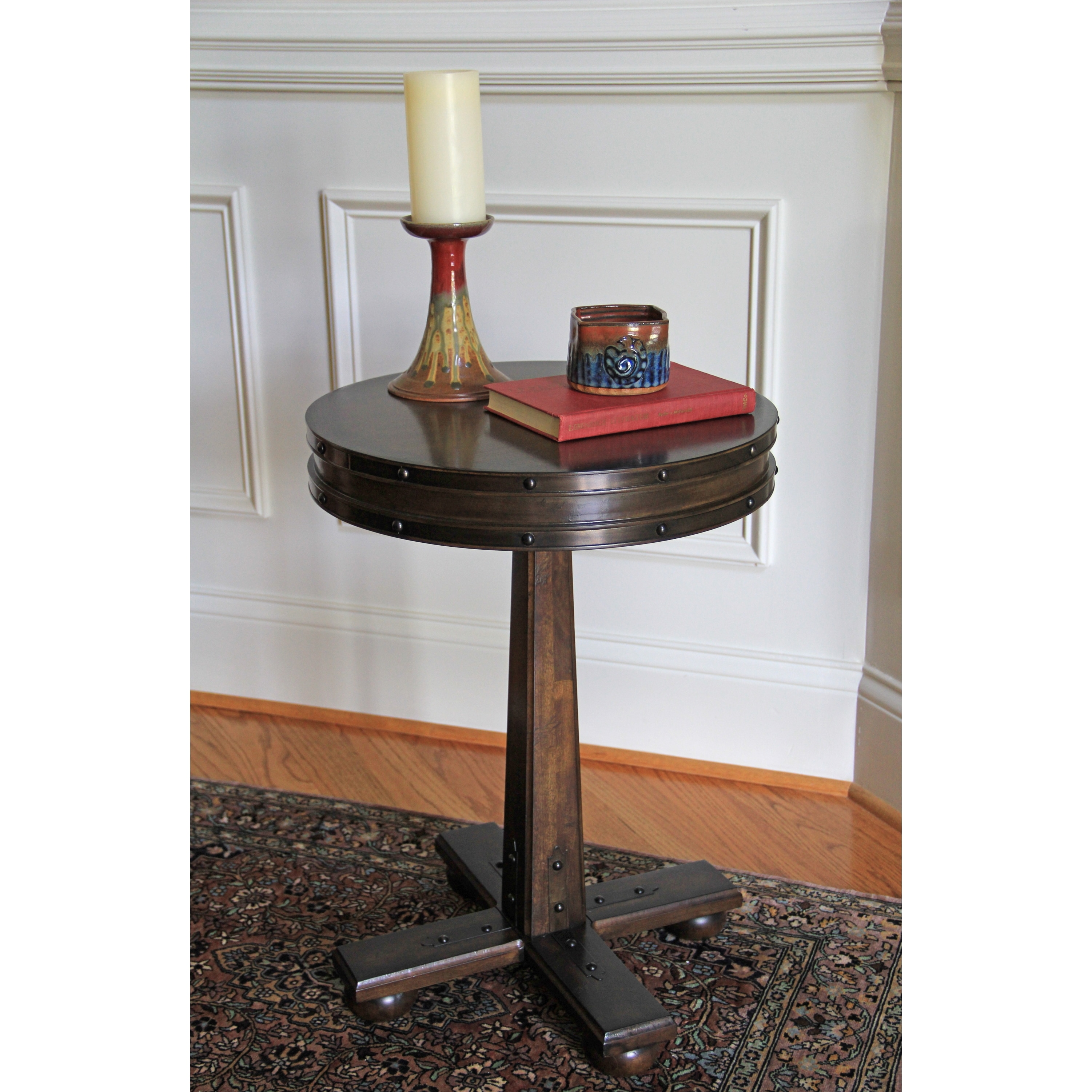 Carolina Accents Logan Side Table, Brown