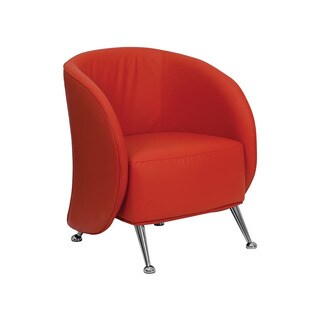 Offex Leather Reception Jet Chair (Red)