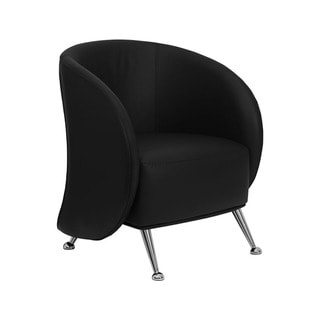 Offex Leather Reception Jet Chair (Black)