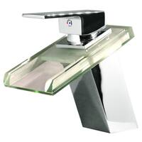 Kokols LED Chrome Waterfall Vessel Sink Color Change Faucet