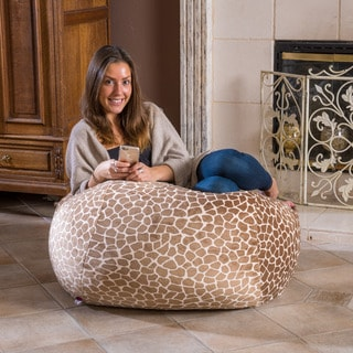 Christopher Knight Home Riley Faux Suede 3-foot Cuddle Giraffe Lounge Beanbag Chair