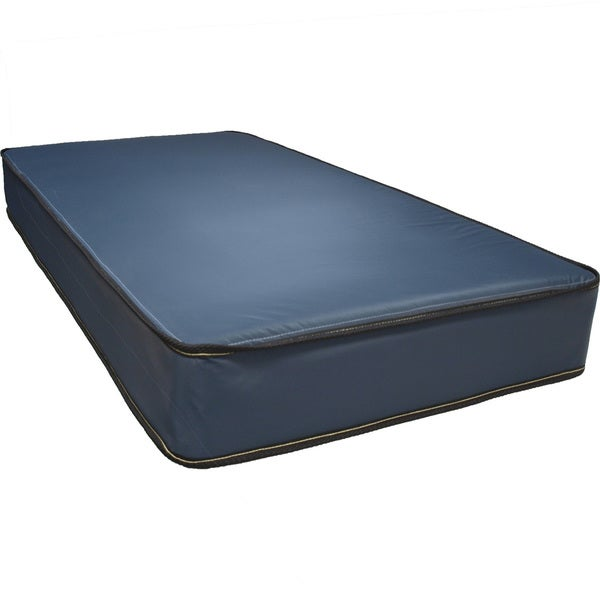 Shop Narrow Twin Size Waterproof Mattress Navy Free