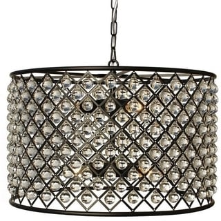 Cassiel Dark Drum Crystal Chandelier