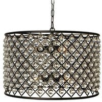 Cassiel Black Drum Crystal Chandelier
