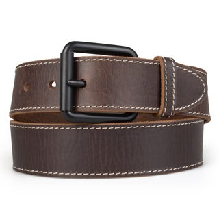 Timberland Men's Genuine Leather Topstitched Belt