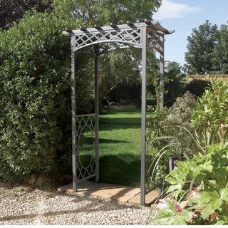 English Garden Steel Latticed Arbor