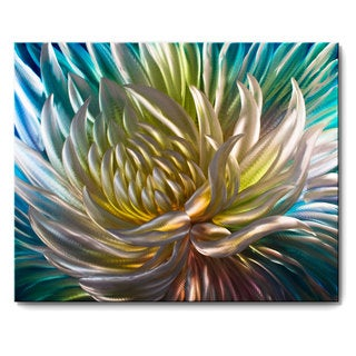 Metal Artscape 'Rainbow Anemone' XL Metal Wall Art