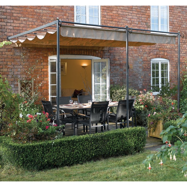English Garden Steel Wall-mount Retractable Canopy : canopy retractable - memphite.com