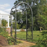 English Garden Steel Round Top Arbor