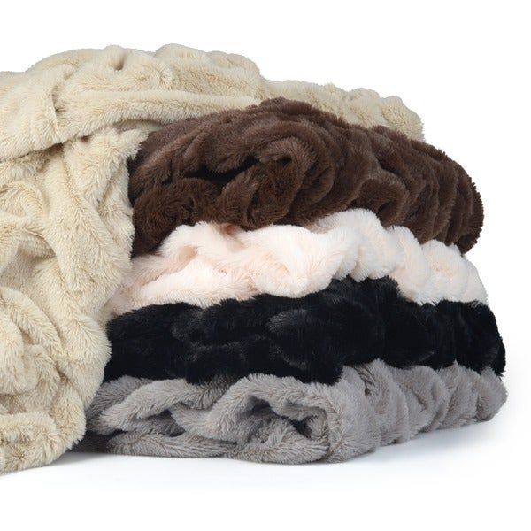 Journee Collection Plush Faux Fur Throw Blanket