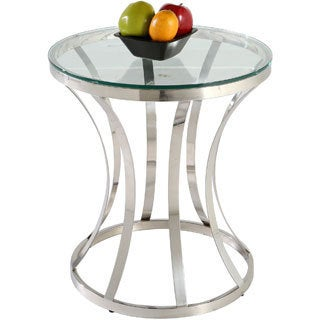 Somette Double Ring Glass Lamp Table