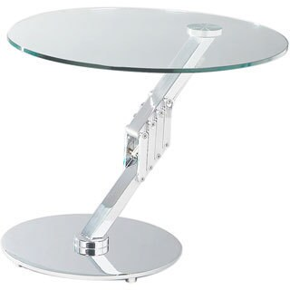 Somette Round Motion Glass Lamp Table