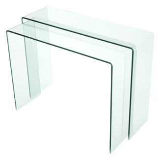 Somette Nested Bent Glass Sofa Table