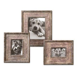 Uttermost Zana Red Distressed Photo Frames (Set of 3)
