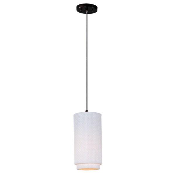 Fluorescent Light Elements: Shop One-light Bronze Fluorescent Elements Mini Pendant
