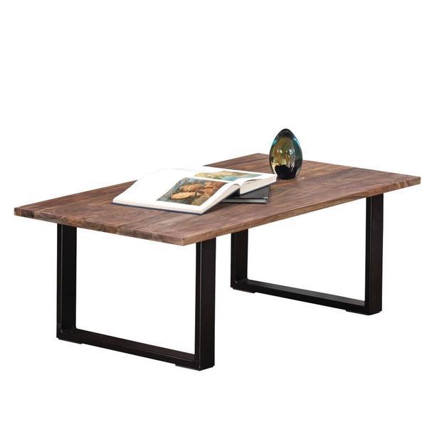 Shop Akram Solid Dark Sheesham Wood Coffee Table