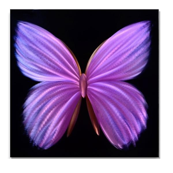 Purple Metal Wall Art 24-inch nova butterfly metal wall art - free shipping today