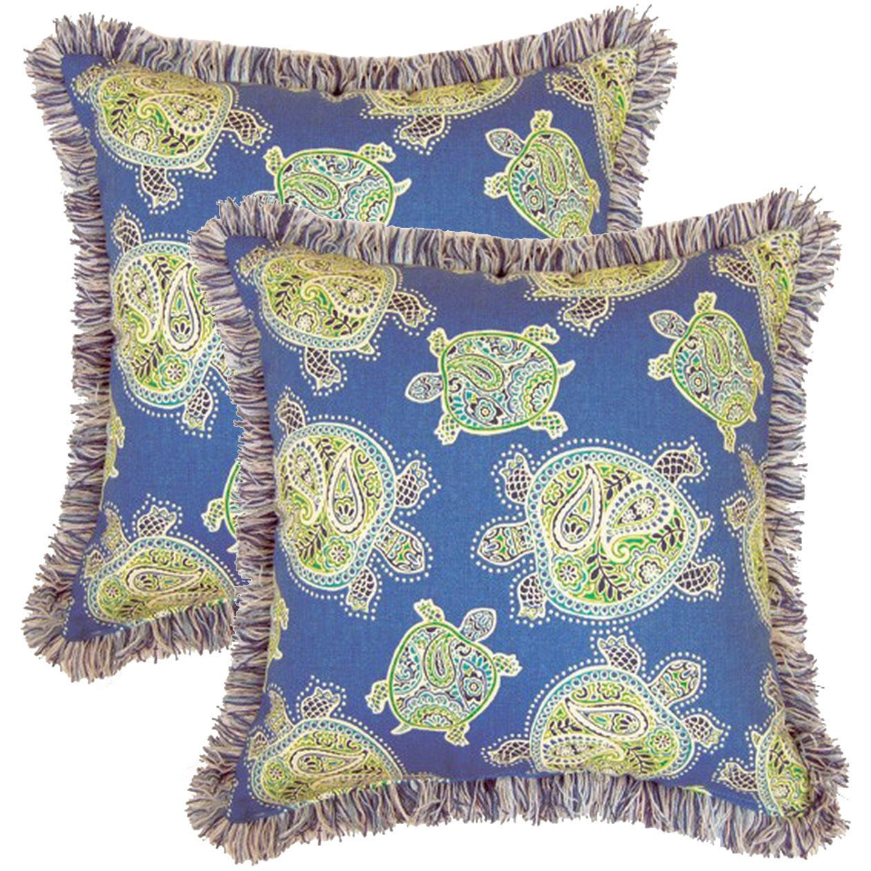 Creative Tranquil Turtles Ocean 17-inch Throw Pillows (Se...