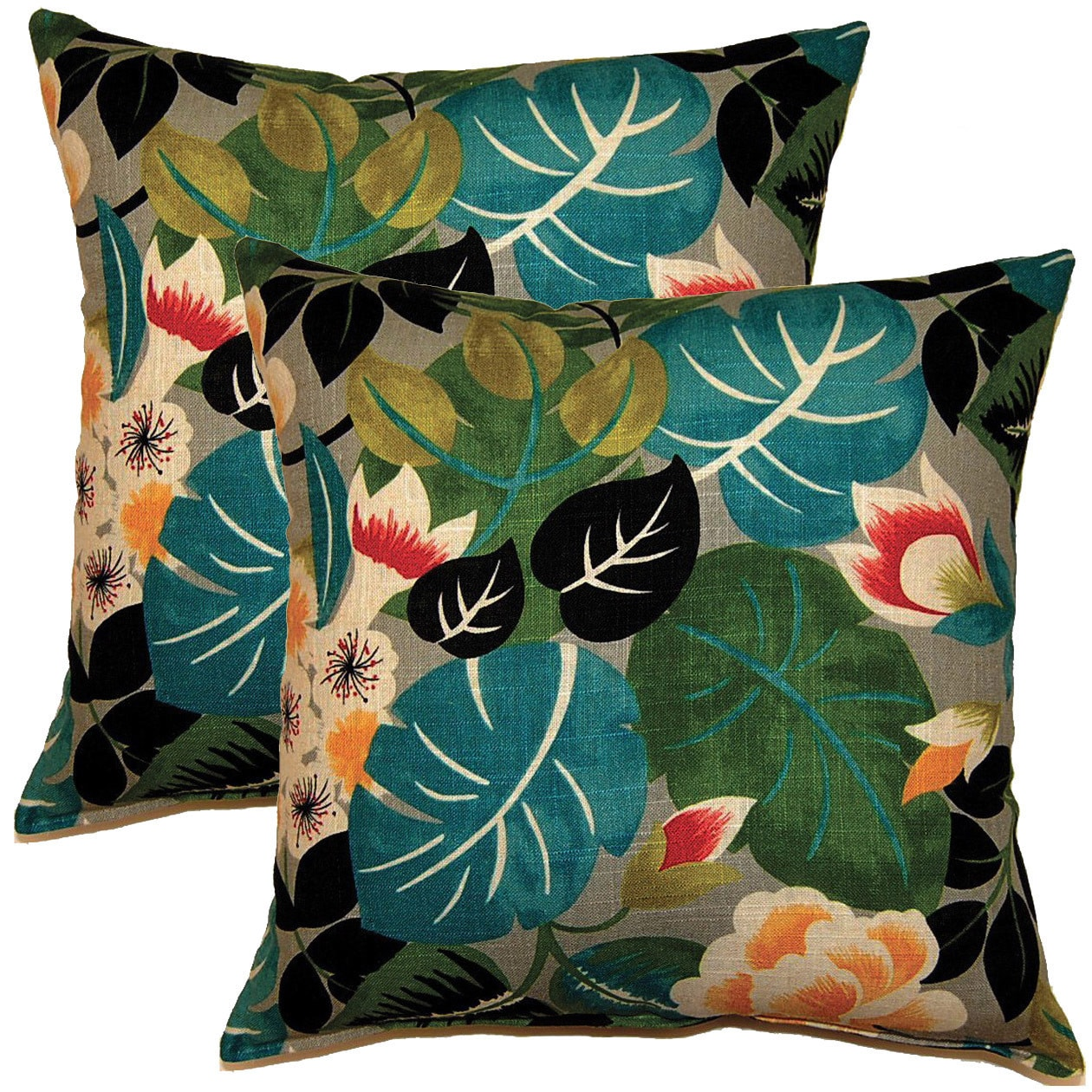 Creative Isla Sterling 17-inch Throw Pillows (Set of 2) (...