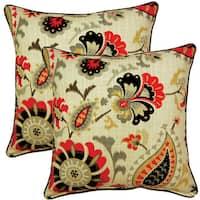 Siren Song Graphite 17-inch Throw Pillows (Set of 2)