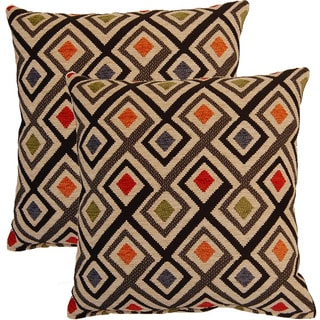 Perfection Graphite 17-inch Throw Pillows (Set of 2)