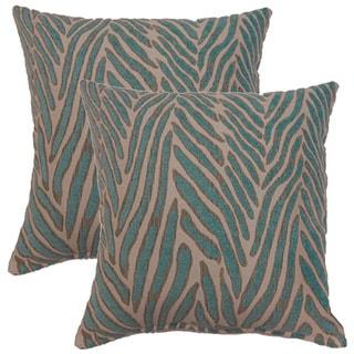 Canal Aqua 17-inch Throw Pillows (Set of 2)