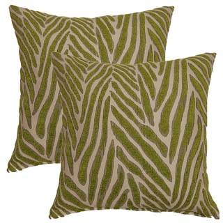 Canal Lime 17-inch Throw Pillows (Set of 2)
