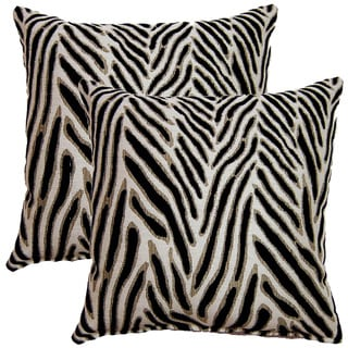 Canal Navy 17-inch Throw Pillows (Set of 2)