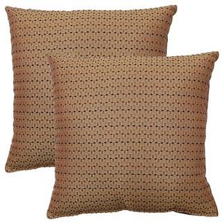 Lutron Brown 17-inch Throw Pillows (Set of 2)