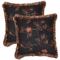Nob Hill Black 17-inch Throw Pillows (Set of 2)